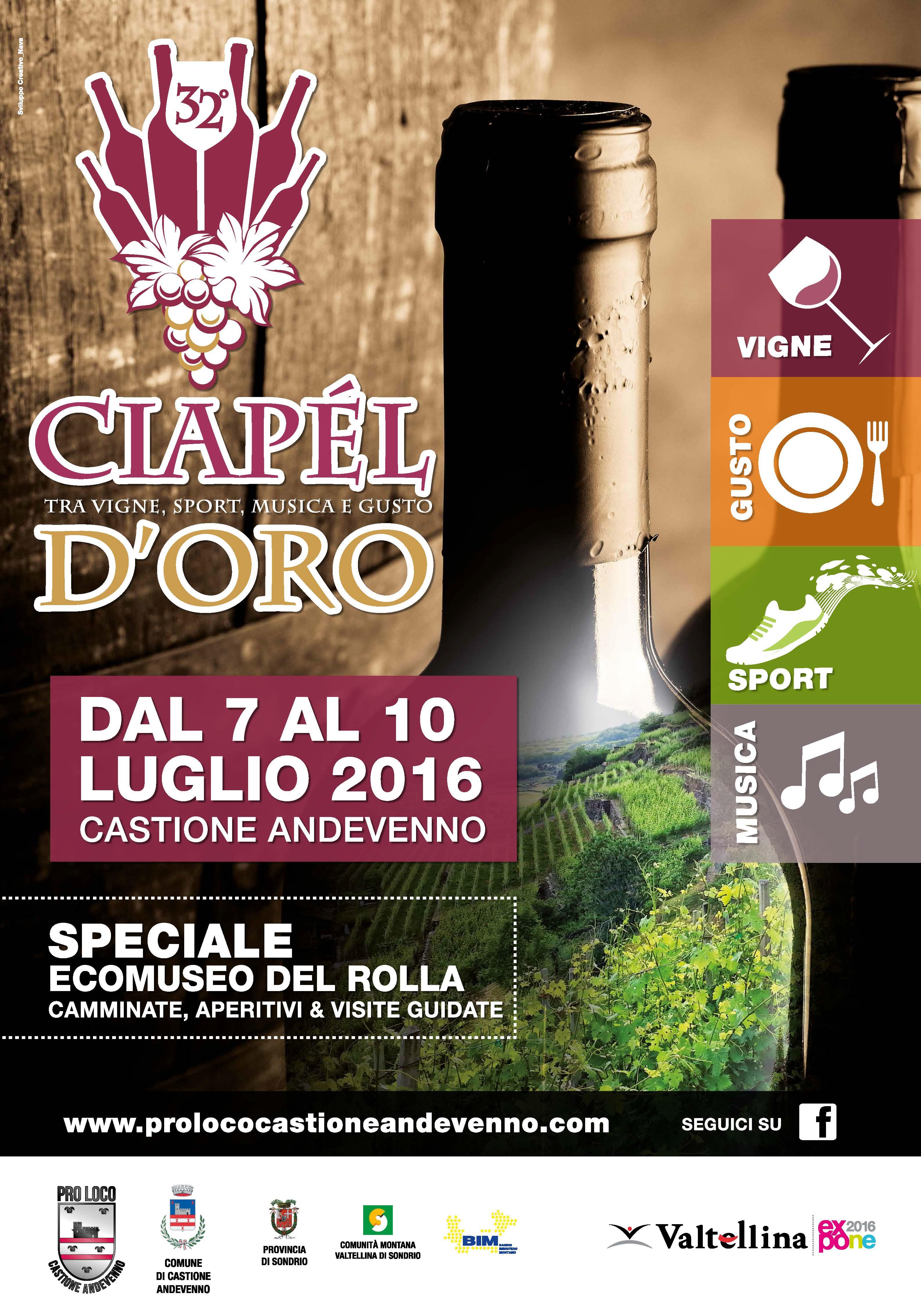 VIGNE, GUSTO, SPORT E MUSICA AL CIAPEL D'ORO 2016