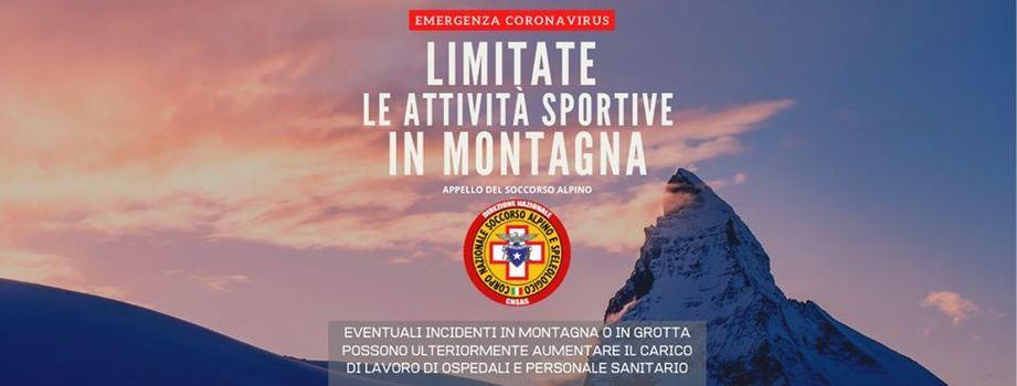 Anche dal Soccorso Alpino: State a casa
