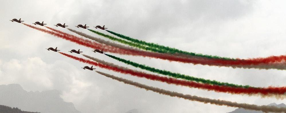Meraviglia sul Lario per lo show delle Frecce Tricolori