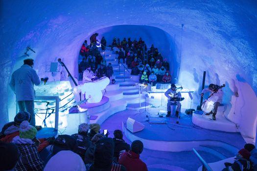 Lavori in corso sul Presena per creare l'Ice Dome