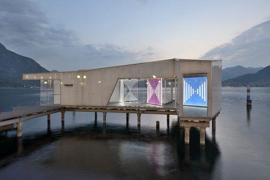 Le opere di Daniel Buren sul lago d'Iseo
