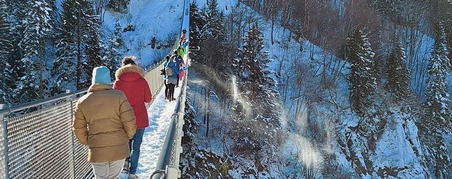 Di nuovo sul ponte sospeso in Val Tartano