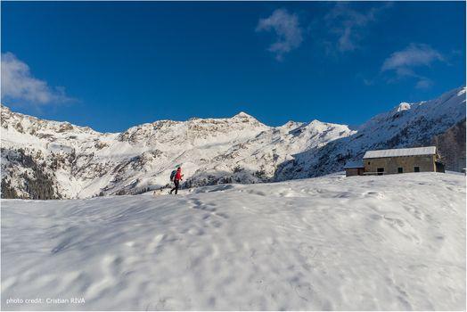 Mezzoldo, neve a passo di ciaspole