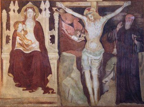Castione, il restauro dell'affresco di Lantana