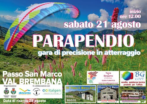 Parapendio al Passo San Marco   Alta Valle Brembana (Bergamo)