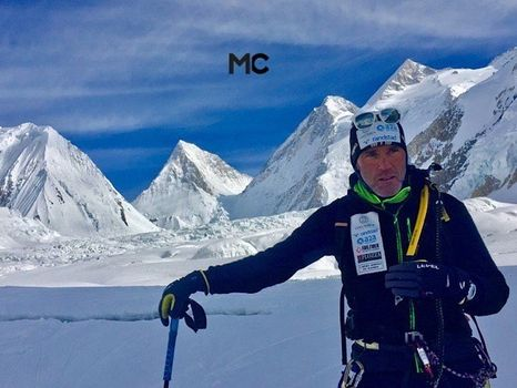 Confortola a 7.000 metri sul Gasherbrum I