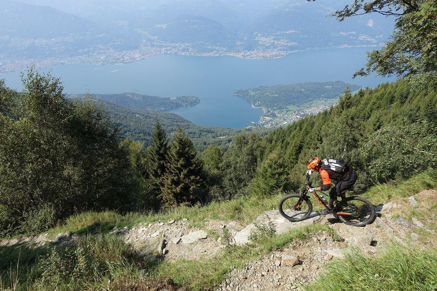Con la mountain bike sul Legnoncino