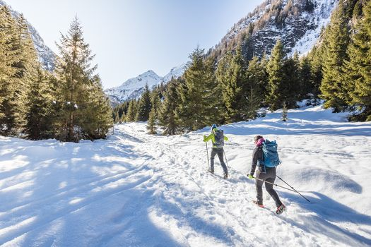 In inverno al rifugio Val Brandet